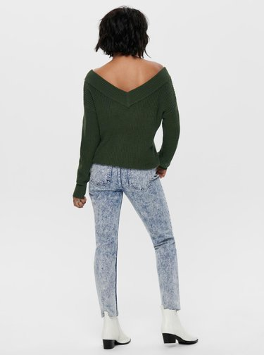 Zelený sveter ONLY Melton