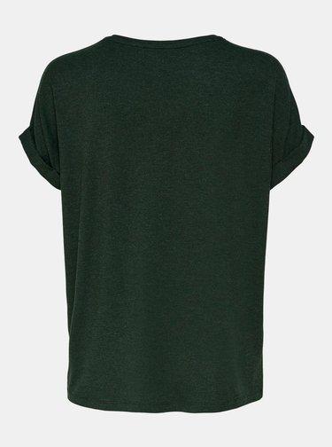 Tmavozelené basic tričko ONLY Moster