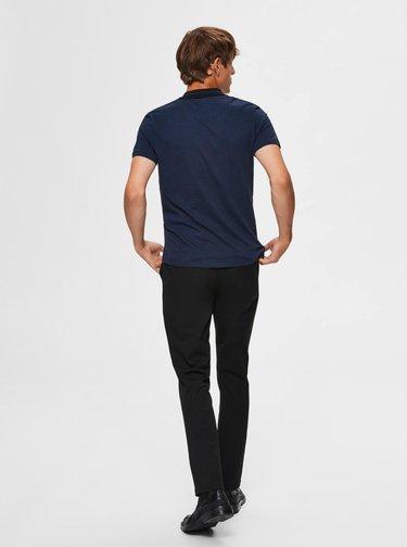 Tmavě modré polo tričko Selected Homme Avenue