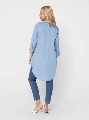 Modrá asymetrická rifľová košeľa ONLY Canberra