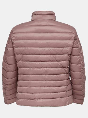 Ružová prešívaná bunda ONLY CARMAKOMA Tahoe