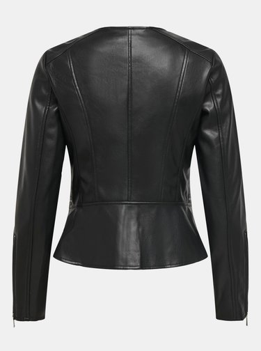 Čierna koženková bunda ONLY Jenny