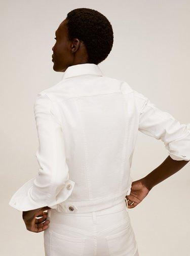 Bílá džínová bunda Mango