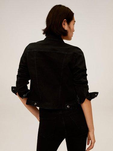Černá džínová bunda Mango