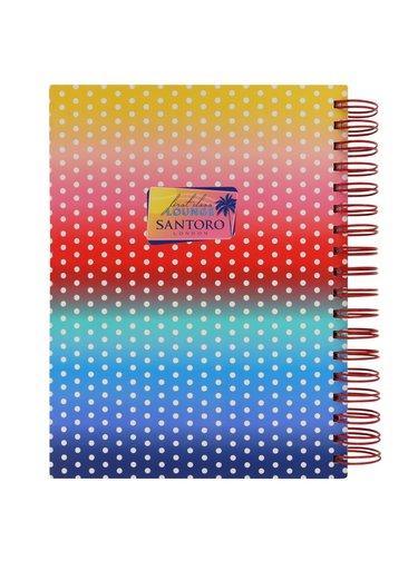 Santoro barevný zápisník First Class Lounge A5 Lollipop