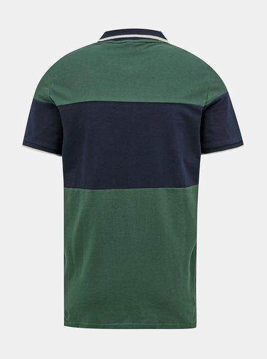 Modro-zelená polokošeľa Jack & Jones Pro