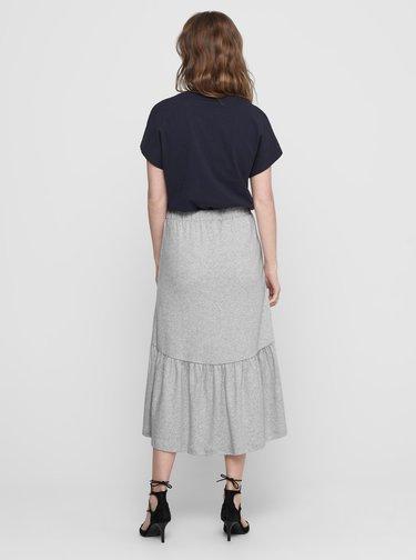 Šedá midi sukňa Jacqueline de Yong Relax