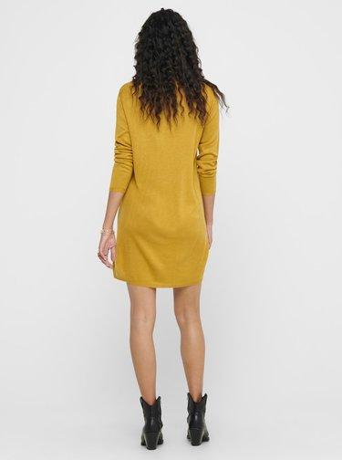 Hořčicové svetrové šaty Jacqueline de Yong Zoe
