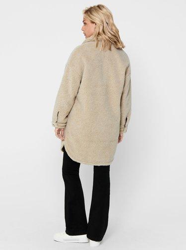 Béžová bunda s umelým kožúškom Jacqueline de Yong Stella
