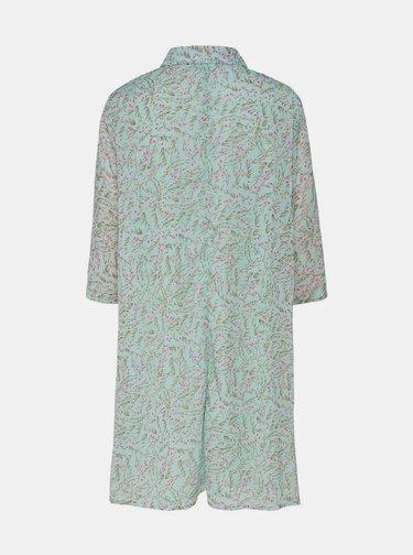 Zelené vzorované košeľové šaty Jacqueline de Yong Nelly