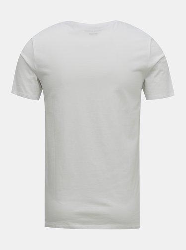 Bílé tričko Jack & Jones Barista