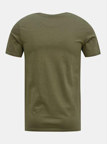 Khaki tričko Jack & Jones Barista