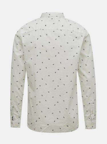 Biela vzorovaná košeľa Jack & Jones Madison