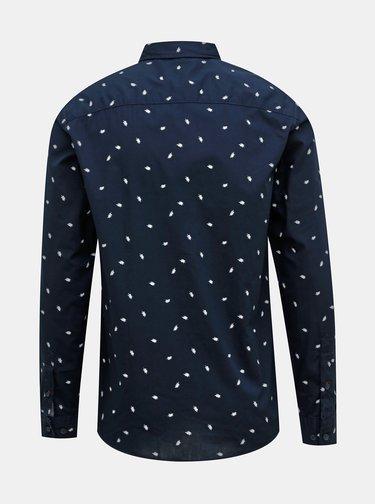 Tmavomodrá vzorovaná košeľa Jack & Jones Madison