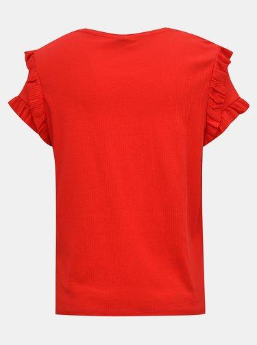 Červené tričko s volány Jacqueline de Yong Fappa