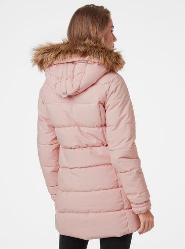 Růžová dámská prošívaná zimní bunda HELLY HANSEN