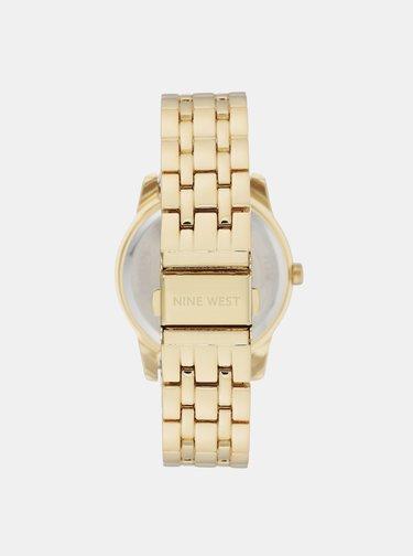 Dámske hodinky s nerezovým remienkom v zlatej farbe Nine West