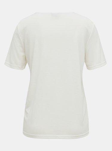 Biele tričko s krajkovým lemom Jacqueline de Yong Finja