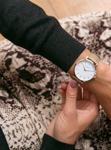 Dámske hodinky s kaki koženým remienkom Annie Rosewood