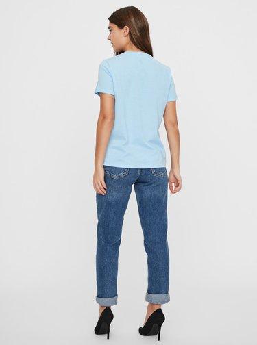 Modré tričko VERO MODA Francis