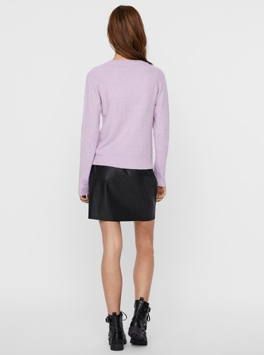 Světle fialový svetr VERO MODA Doffy