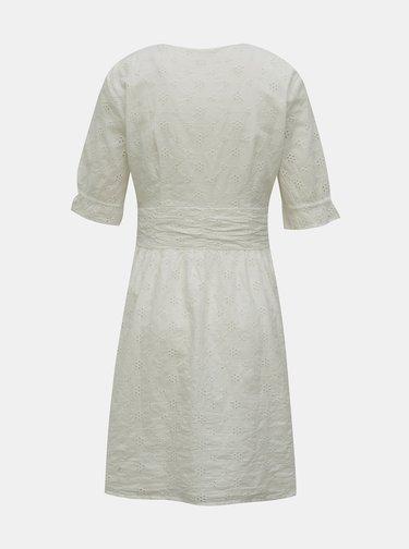 Biele šaty s madeirou ONLY Oda