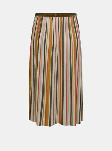 Krémovo-hnědá plisovaná sukně ONLY Kinsley