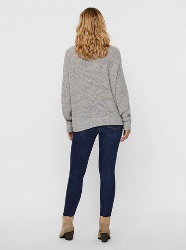 Šedý sveter s prímesou vlny z alpaky VERO MODA Imagine