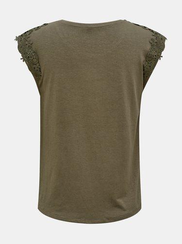 Khaki tričko ONLY Alexa