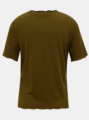Khaki tričko VERO MODA Brea