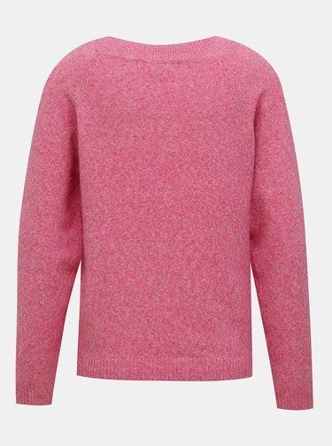 Růžový svetr VERO MODA Doffy