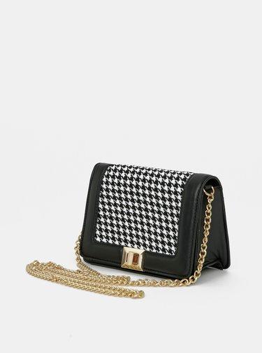 Čierna vzorovaná crossbody kabelka ONLY Amelia