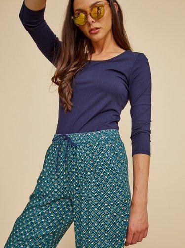 Zelené dámské vzorované kalhoty ZOOT Baseline Evelina