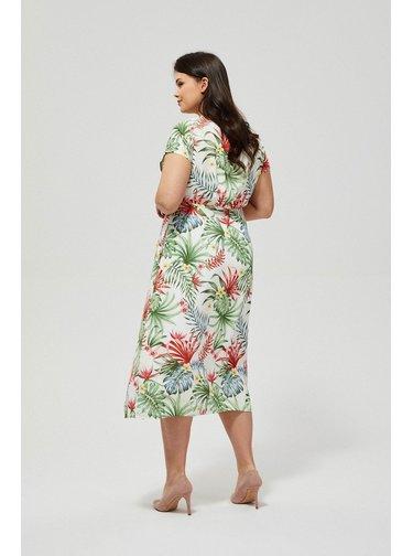 Moodo barevné letní šaty s tropickými motivy