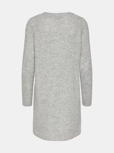 Světle šedé svetrové šaty ONLY Carol