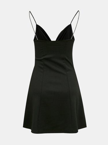 Čierne šaty s ozdobnými detailmi TALLY WEiJL
