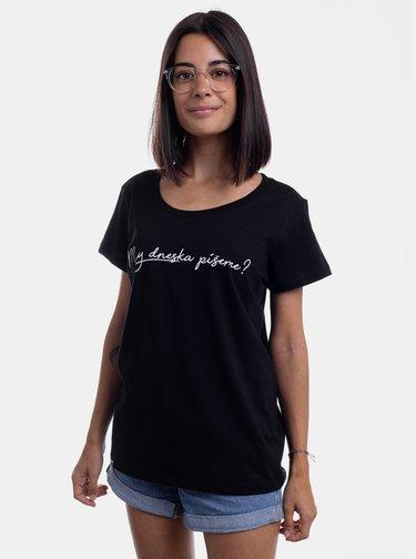 Čierne dámske tričko ZOOT Original My dneska něco píšeme?
