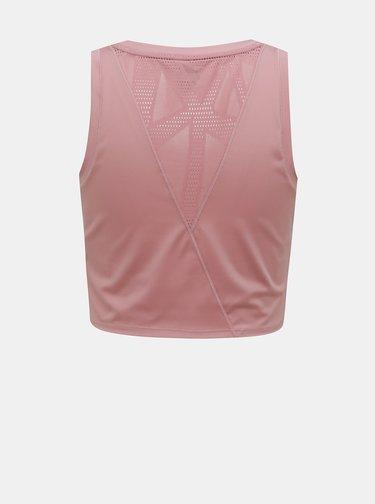 Růžový dámský crop top Puma