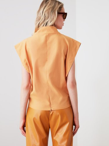 Oranžová halenka Trendyol