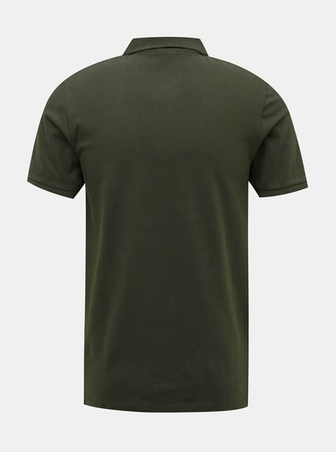 Khaki polo tričko Jack & Jones Hero