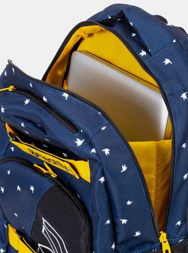 Tmavě modrý vzorovaný batoh Meatfly Exile