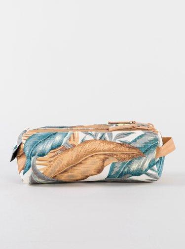 Krémovo-béžový vzorovaný penál Rip Curl
