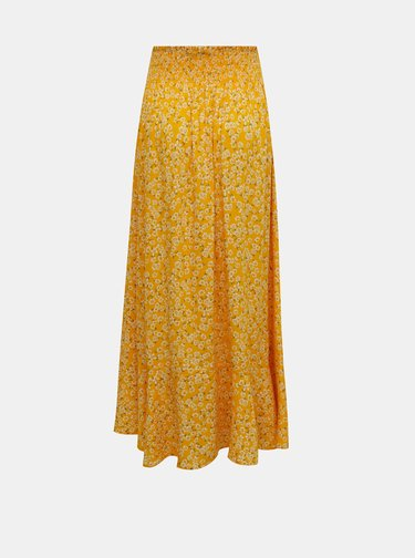 Žlutá květovaná maxi sukně TALLY WEiJL