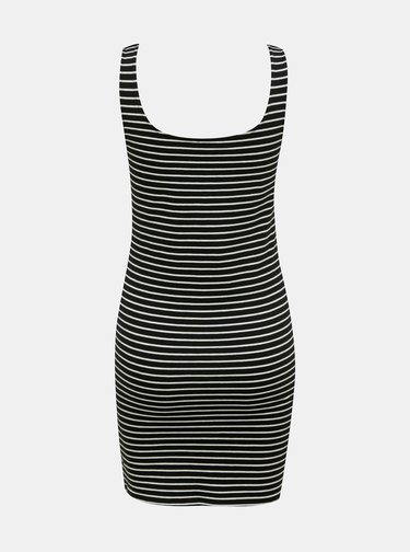 Čierne pruhované šaty s potlačou TALLY WEiJL
