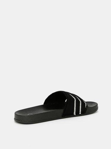 Černé pantofle s ozdobnými detaily TALLY WEiJL