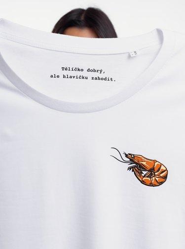 Bílé dámské tričko ZOOT Original Krevetka