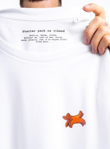 Bílé pánské tričko ZOOT Original Buřtík