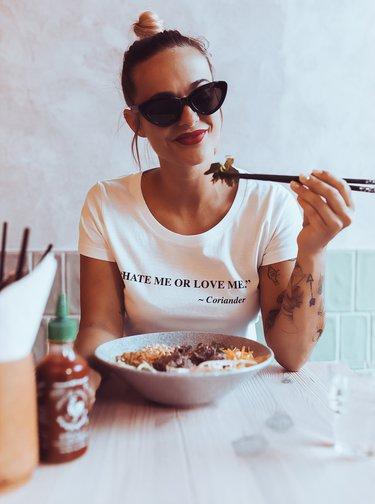Biele dámske tričko ZOOT Original Koriandr