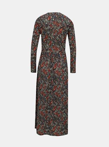 Černé květované maxišaty Jacqueline de Yong Svan