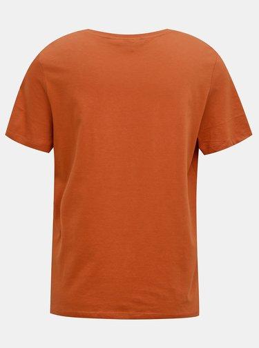 Hnědé tričko s potiskem VERO MODA